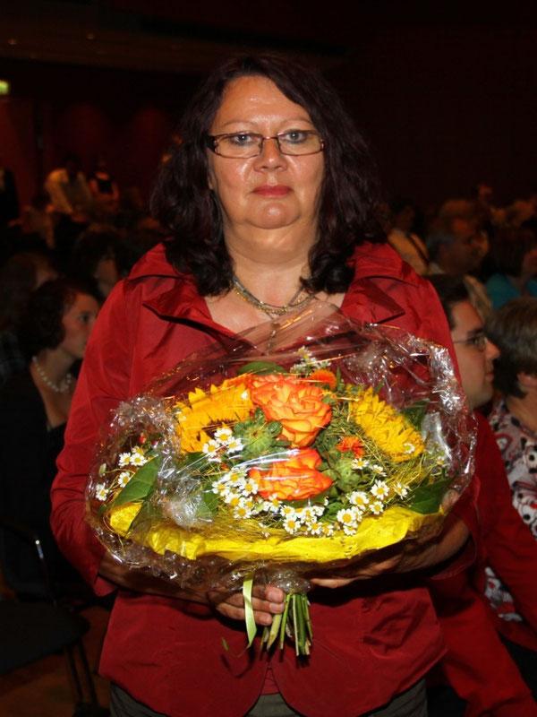 Frau Bärbel Pfirrmann, viele Jahre engagiert im Schulelternbeirat sowie im Förderverein
