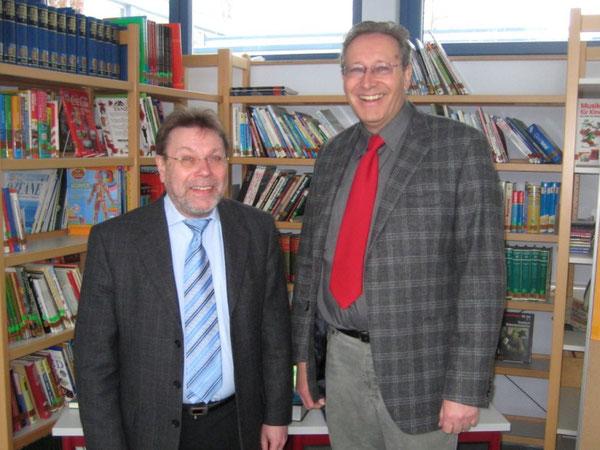 Karlheinz König, Schulleiter der neuen IGS Wörth und Joachim Paul, Schulleiter der Realschule plus