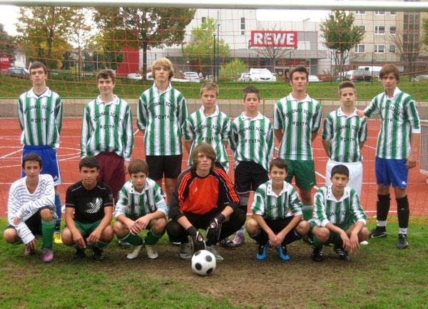 Das erfolgreiche Team nach dem Sieg