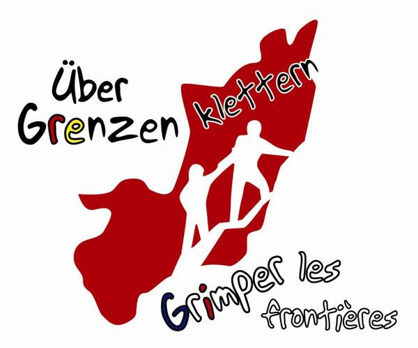 """Das Logo der AG """"Über Grenzen klettern"""""""