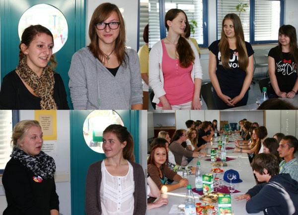 Deutsche und polnische Schülerinnen und Schüler stellen sich gegenseitig vor