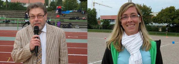 Direktor Karlheinz König und die Organisatorin Stefanie Fath