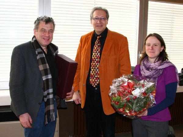 Herr Seibel, Rektor Paul und Frau Freewell
