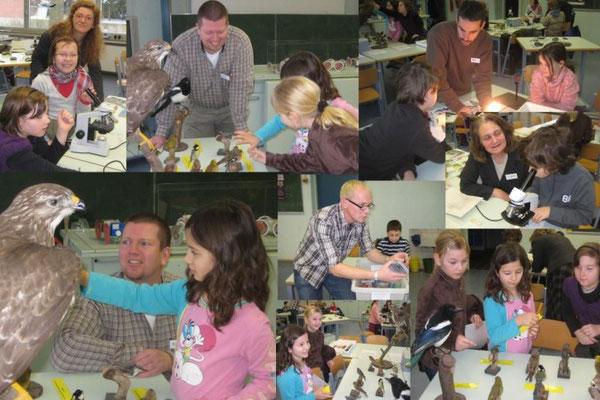 Großes Interesse zeigten die Schülerinnen und Schüler beim Schnupperunterricht in den Naturwis- senschaften