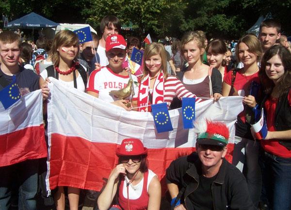Unsere polnischen Gäste auf dem Trifels