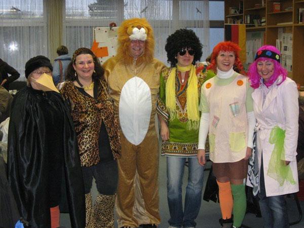 Auch die Lehrer kamen verkleidet