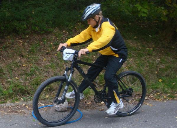 Auf dem Mountainbikekurs war nicht nur Geschwindigkeit, sondern auch Geschicklichkeit gefragt