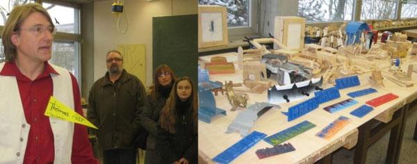 Eine Ausstellung von Schülerarbeiten dokumentierte die Arbeit im Fach Technik von der 6. bis zur 10. Klasse hin