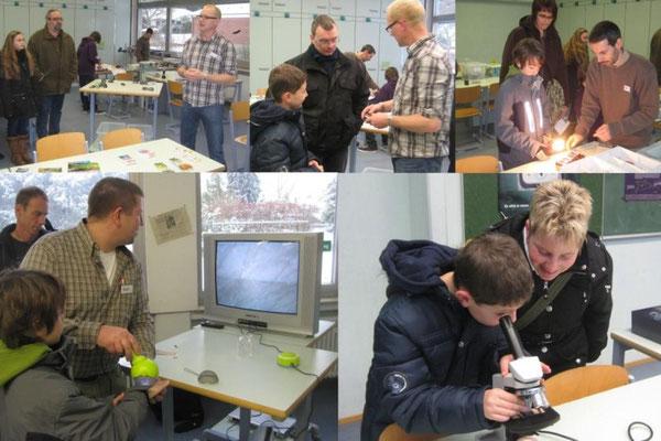 An einigen ausgewählten Stationen hatten die Kinder die Möglichkeit, das Fach Naturwissenschaften kennen zu lernen