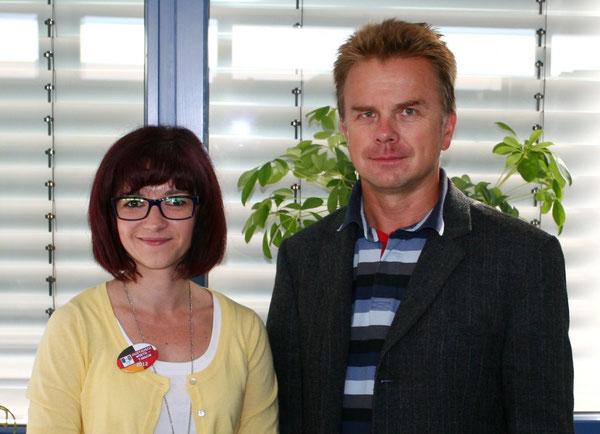 Monika Kocol und Tadeusz ...., Organisatoren des Austausches auf polnischer Seite