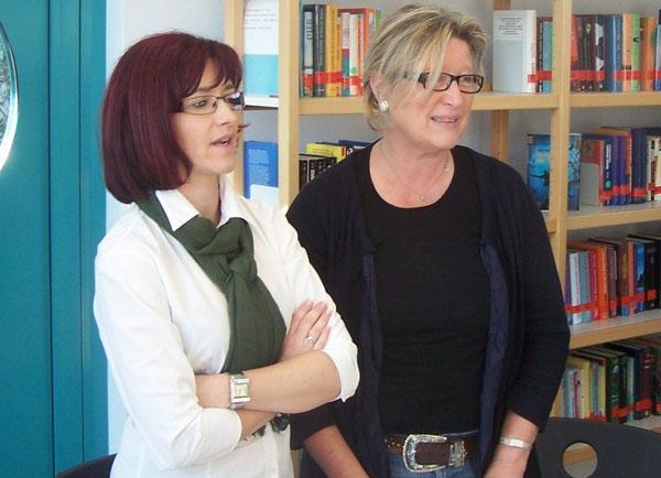 Die Organisatorinnen des Austausches - Monika Kokol (Tarnow) und Frau Ursula Burgard (Realschule plus Wörth)