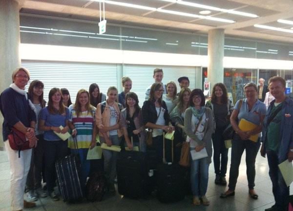 Unsere polnischen Gäste am Flughafen in Stuttgart