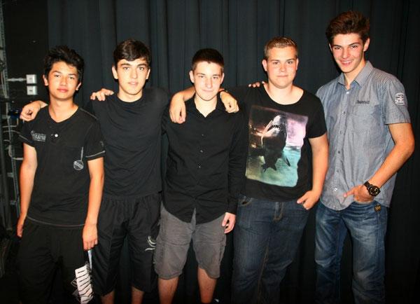 v.l.n.r.: Thomas Wetzel, Oktay Akin, Nikolas Wenzel, Manuel Klingbeil und Florian Schulze