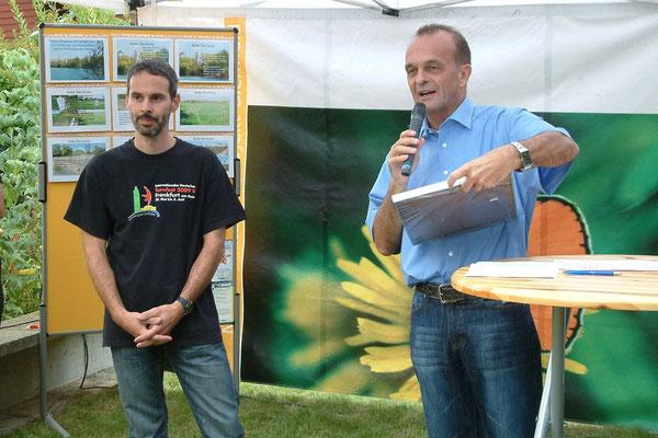 Herr Reiser und Landrat Dr. Fritz Brechtel