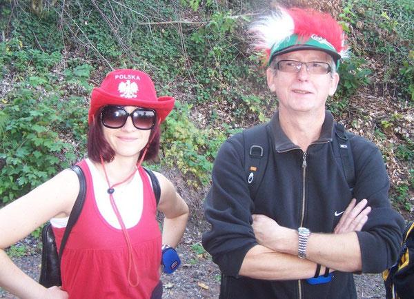 Die polnischen Lehrkräfte: Monika Kokol und Jurek Kulpa