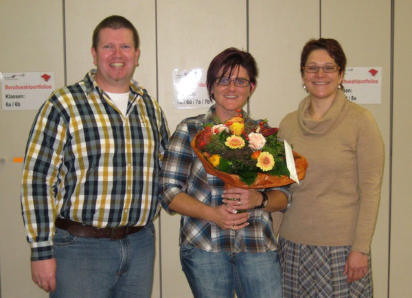 Martin Kleist (Mentor in Biologie), Tanja Stolz, Patricia Supper (Mentorin in Deutsch)