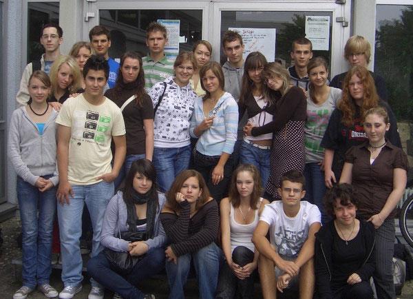 Die polnischen Austausschüler zusammen mit ihren deutschen Gastgebern