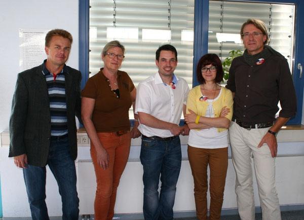 Das komplette Organisationsteam: Tadeusz .., Ursula Burgard, Andreas Borm, Monika Kocol und Thomas Abt
