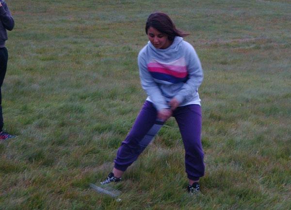 Gabriela beim Crossgolf