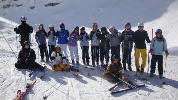 Die RS+ Skisporttruppe auf der Piste