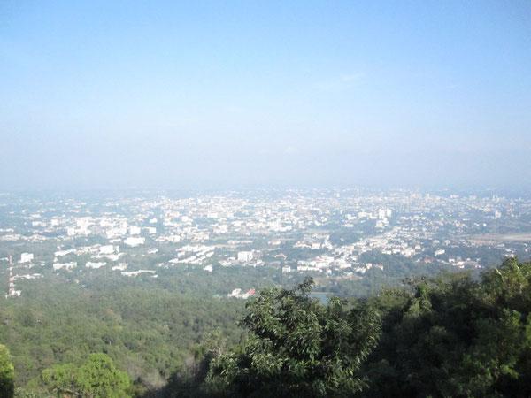 チェンマイ市街を一望できる