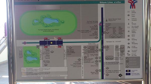 ラチャダムリ駅周辺地図