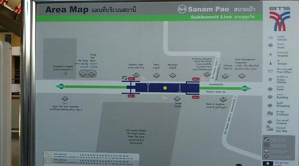 サナームパオ駅周辺マップ
