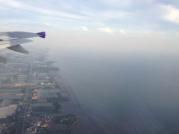 タイ バンコク郊外上空にて