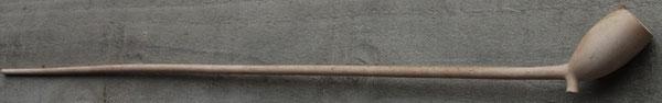 59 cm lange steel, totaal 66 cm, Cat nr 496  ovoide 'grootkop' met hielmerk 26 gekroond