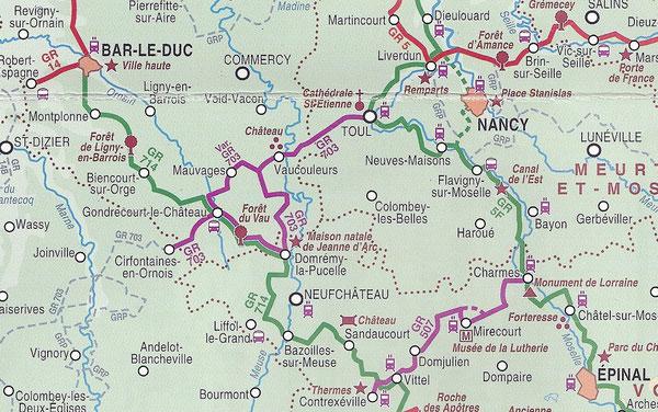 Les GR autour de Vaucouleurs      (Topoguide de la FFRP Lorraine)