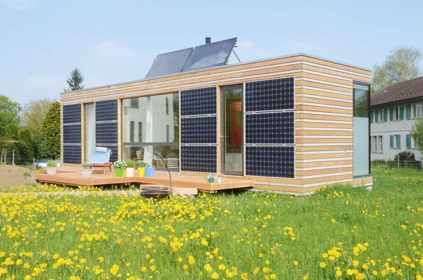 Motto regional bauen international denken planen for Minihaus bausatz