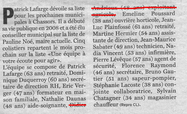 Article Charente Libre 06-02-2014