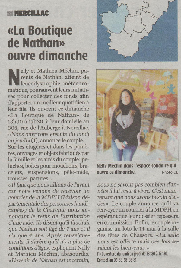ARTICLE CHARENTE LIBRE 24-03-2017
