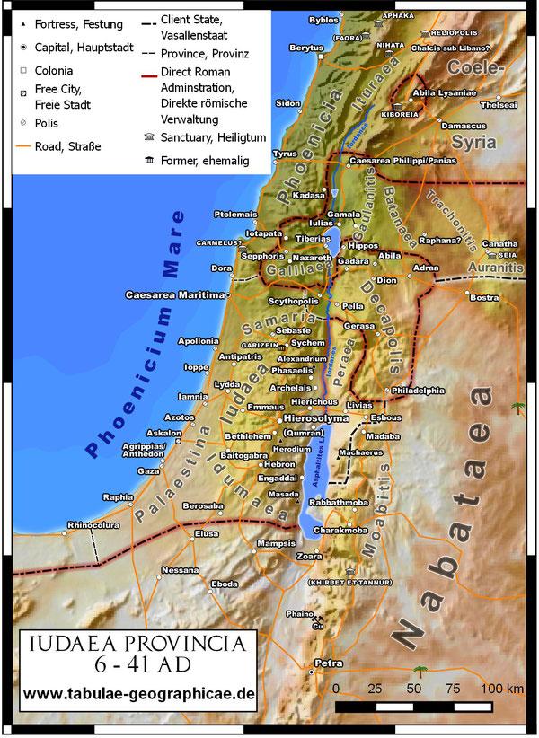 Landkarte Judäa