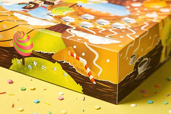 code501 - creative band Donut's Club packaging, illustration. Иллюстрация на упаковку пончиков.