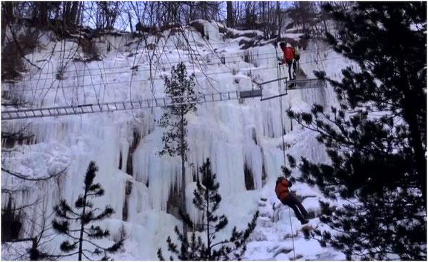 Gorge Alpine im Winter