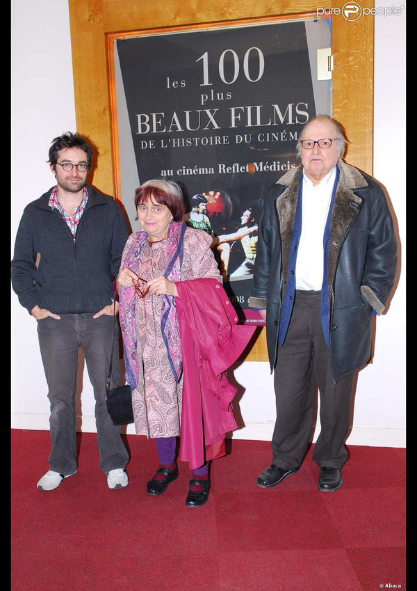 Mathieu Demy, Agnés Varda et Claude-Jean Philippe
