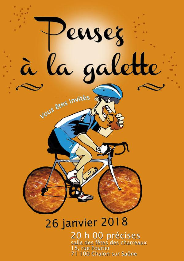 Galette des rois vélo sport chalonnais