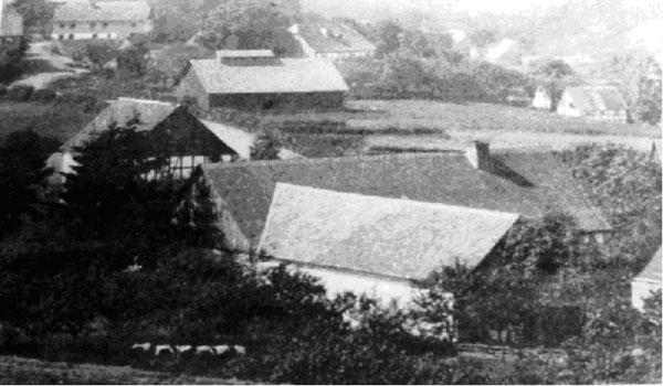 Das Bild zeigt die Schützenhalle um 1893.