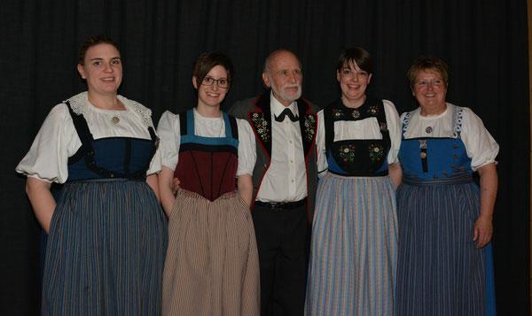 v.l. Ramona Cramieri, Andrea Frank, Edi Gasser, Angela Huber, Esther Ehrler