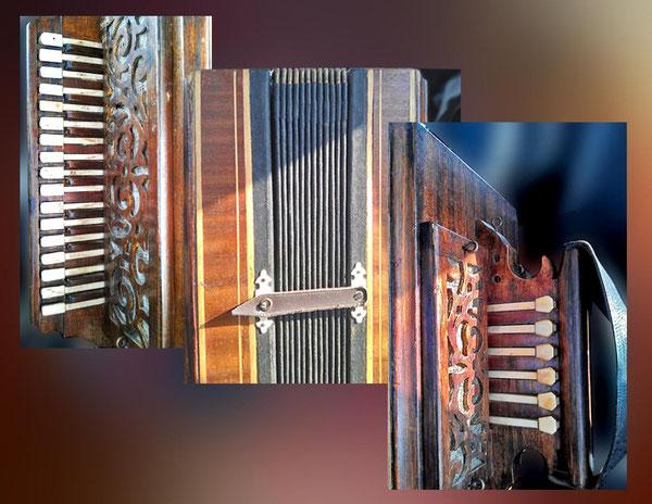Шестипарка с полутонами(фотографии только фрагментов инструмента гармониста из Тешевки, Задонского района)