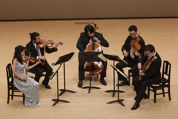 Mendelssohn-Bartholdi:Streicher Quintett A-Dur Op.18  Vn. 漆原 啓子 白井 圭 Vla. 佐々木 亮 大島 亮 Vc. 伝田 正則