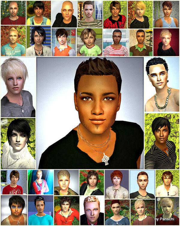 kleine Auswahl an meinen bisher erstellten männlichen Sims