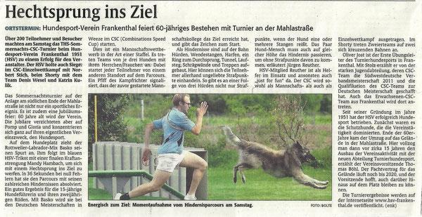 Rheinpfalz - 16.08.2011