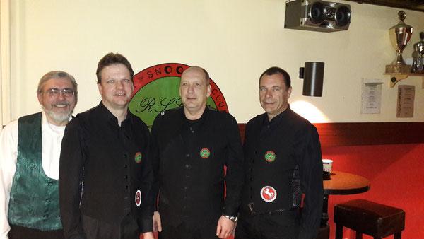 v.l.n.r.: Hans-Ulrich Holz, Norbert Schmidt, Frank Will und Achim Husemann