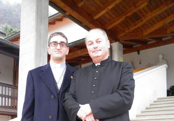 Il parroco don Italico Josè Gerometta con don Eros Dal Cin ad Anduins