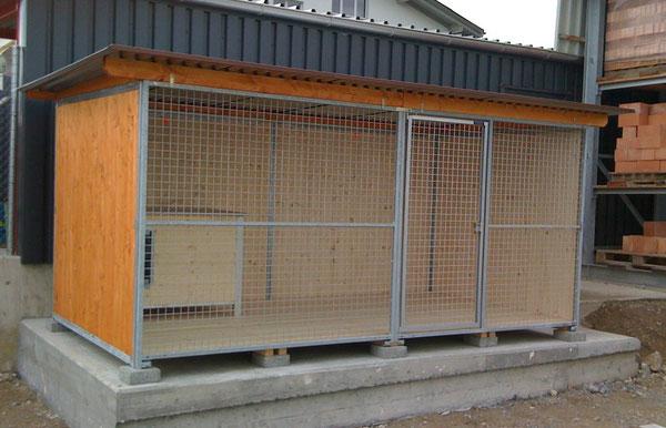 Rustica-Zwinger 2x4 m Breitbau (Preise ohne Hundehütte)