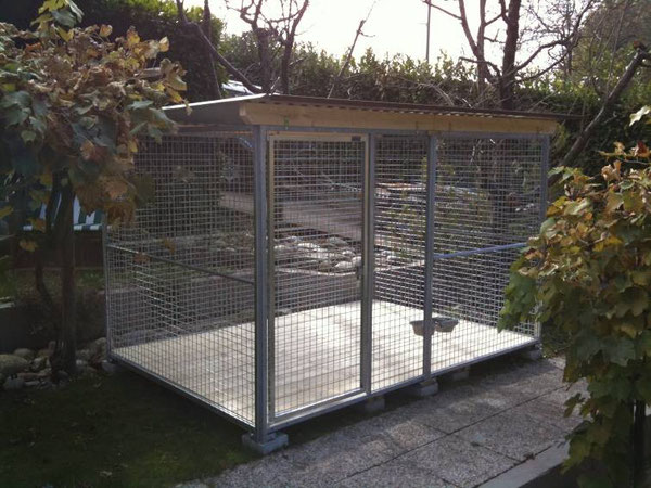 Gitter-Zwinger 2x3m mit Dach und Boden
