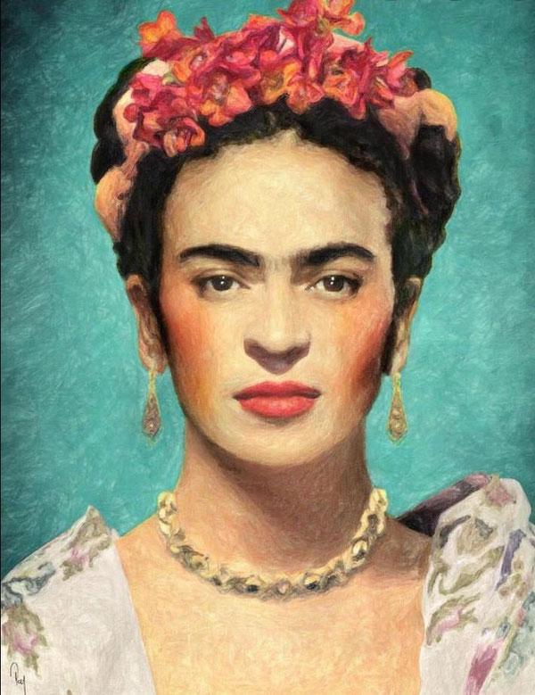 Vorlage von Frida Kahlo!