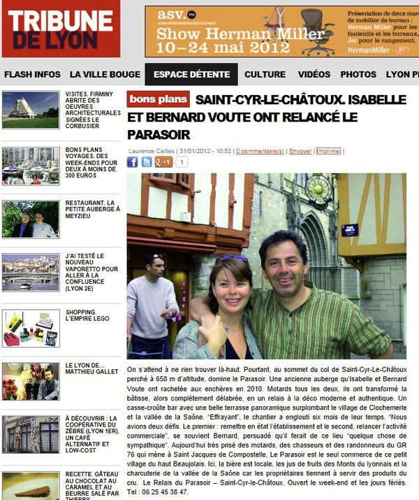 La tribune beaujolaise